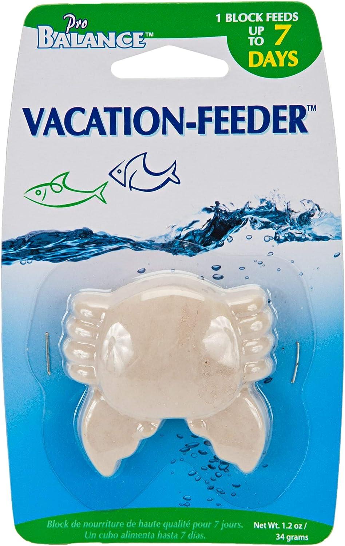 Penn Plax Crab Shape Vacation Fish Feeder, 1.3 oz.