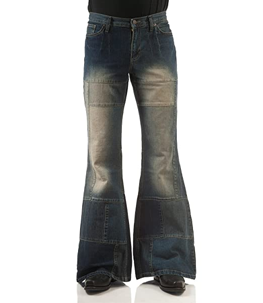 COMYCOM Patchwork Jeans Schlaghose Star Spirit Dirty Denim