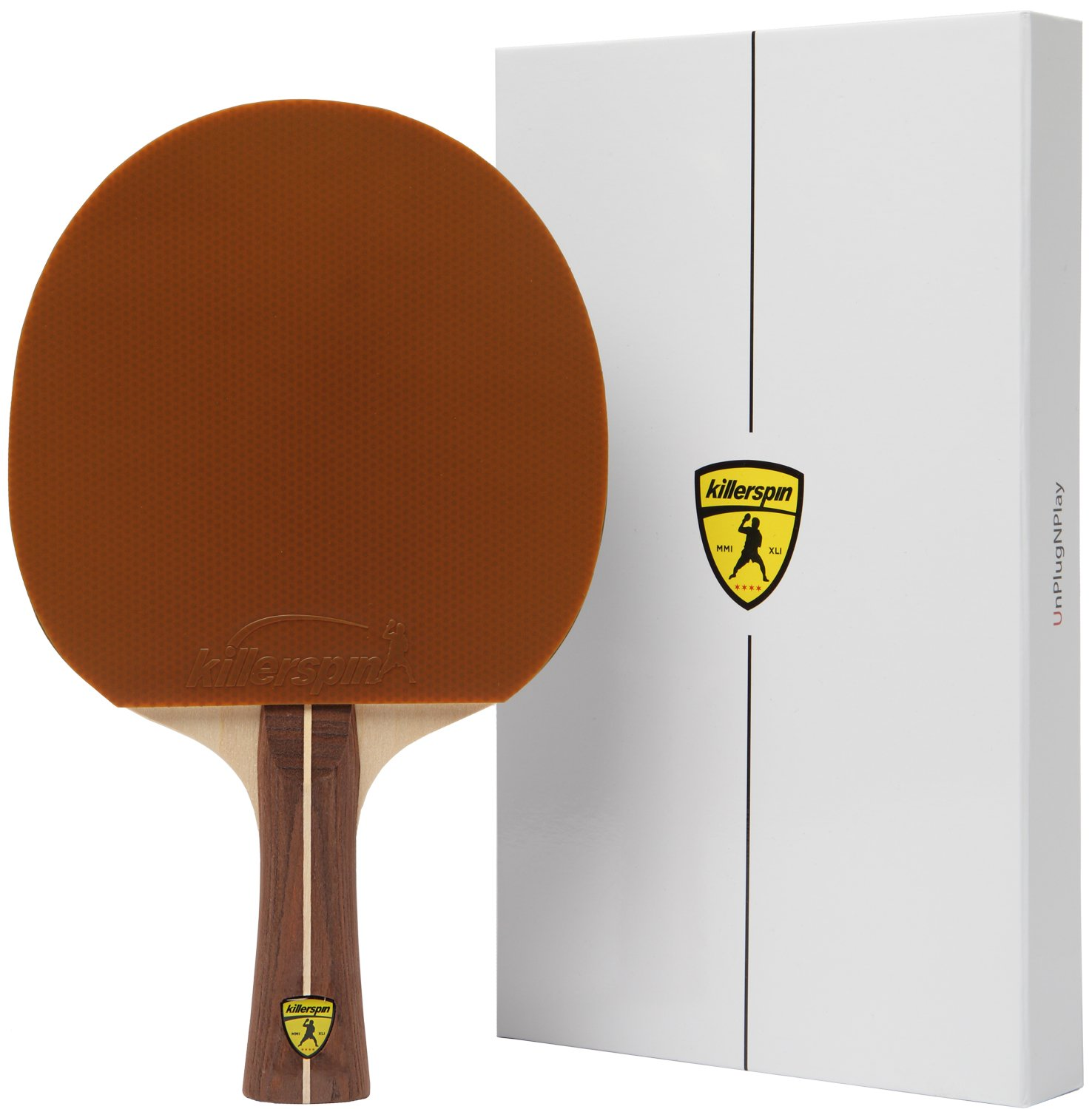 Killerspin JET200 Mocha Table Tennis Paddle - Brown Ping Pong Bat Created for the Needs of Recreational Player with White Memory Book