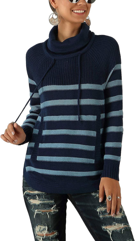 Rollkragen Pullover 2-farbig Gr 40 42 blau grau Feinstrick Rolli Pulli