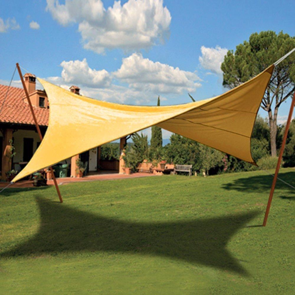VERDELOOK Tenda ombreggiante Vela Quadrata Ecrù Verde Copertura Sole Ombra Giardino Biacchi Ettore srl