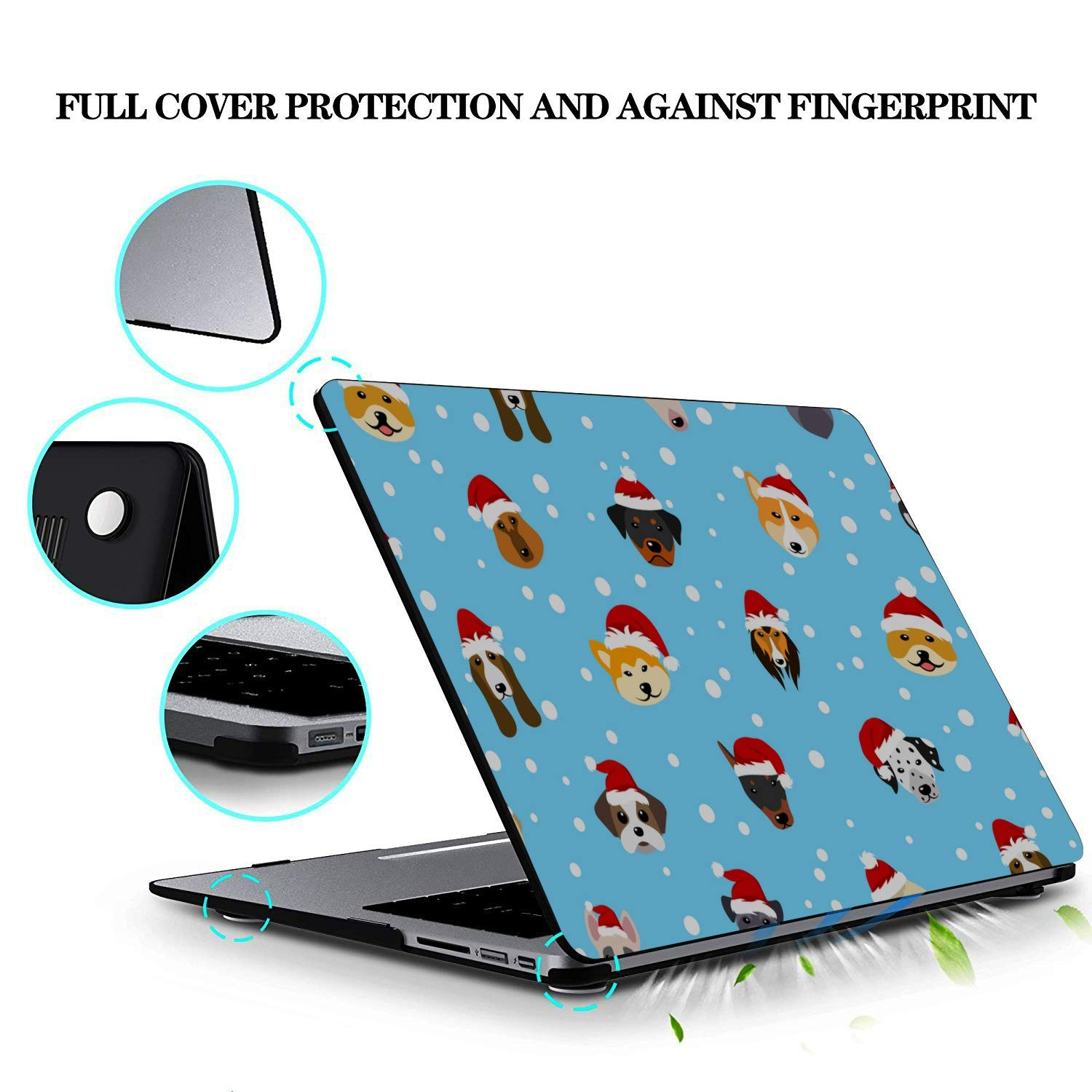 Mac Book Covers Cartoon Hat Dog Friendly Pet Plastic Hard Shell Compatible Mac Air 11 Pro 13 15 Mac Book Pro Accessories Protection for MacBook 2016-2019 Version