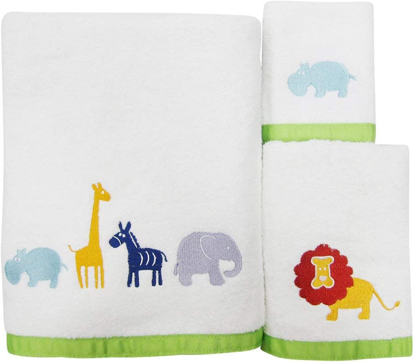 Allure Home Creation Hippo Cotton Three Piece Towel Set