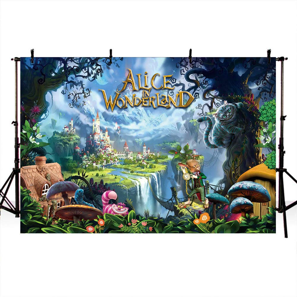 Storybook Party Backdrop Alice in Wonderland Backdrop Dessert Table Banner Down the Rabbit Hole Any Age or Wording Printable File