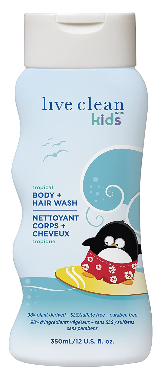 Live Clean 33403 Kids Body and Hair Wash, 350-Milliliter