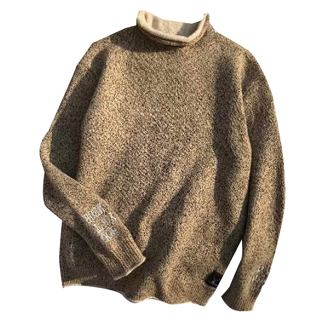 Andopa Mens Relaxed-Fit Fall Ribbed Knitted Oversized Sweater Pullover