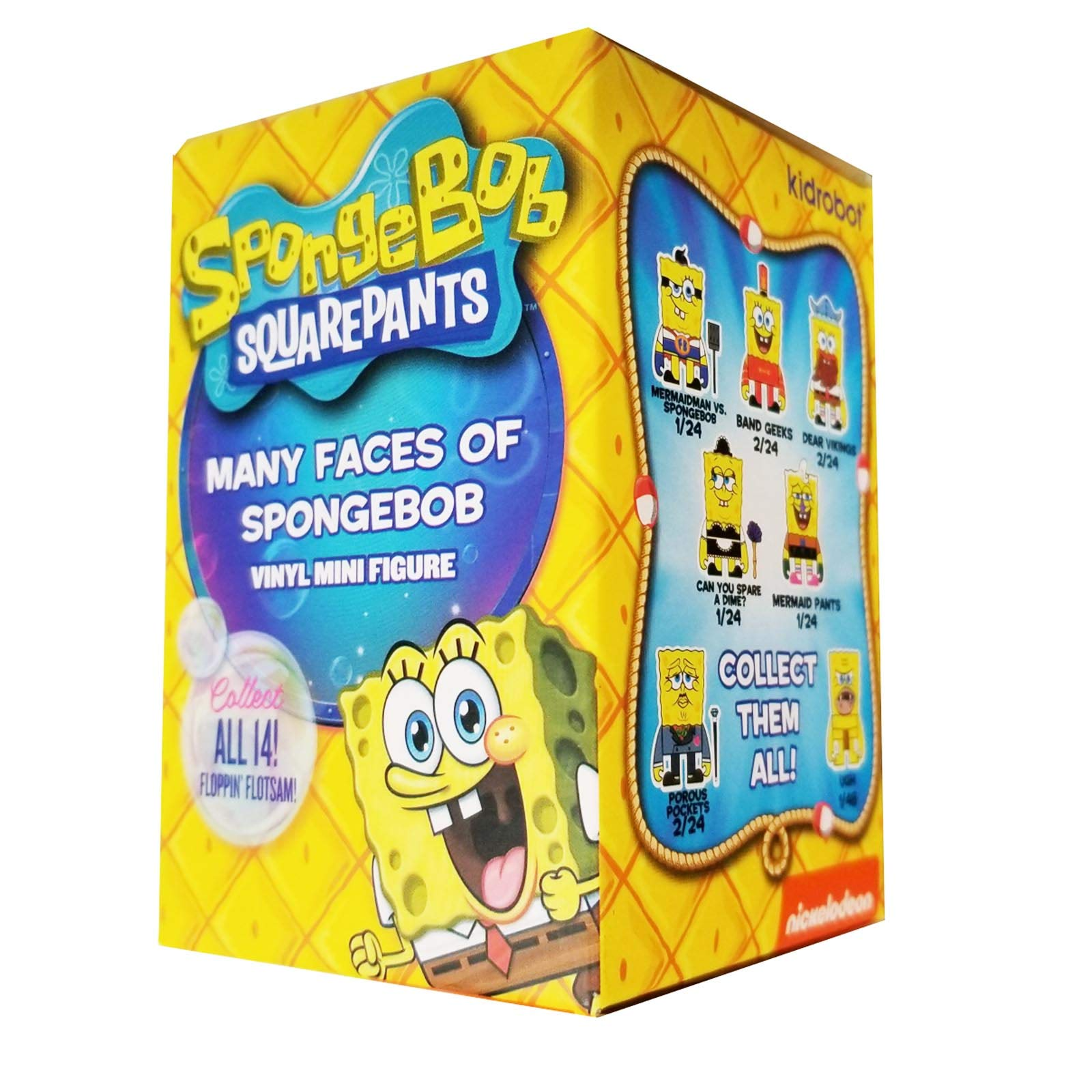 Kidrobot Spongebob Squarepants Many Faces Blind Box Figure