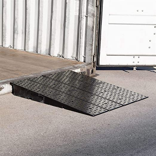 49 x 44 Guardian 20CR44911 Rubber Full-Width Wedge Shipping Container Ramps