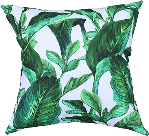 Clara - Fundas de cojín impermeables para jardín, interior y exterior, diseño de selva tropical, Hoja de la selva, 45 x 45 Centimeters: Amazon.es: Jardín