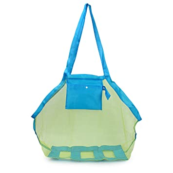 5e71b695aa38 Latinaric Large Sand Away Mesh Beach Tote Bag Clothes Towels Swim Sand Toys  Storage Bag For