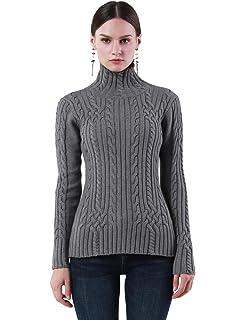 ninovino Women s Turtleneck Ribbed Long Sleeve Sweater Pullover Tops ... 66f5b5c01