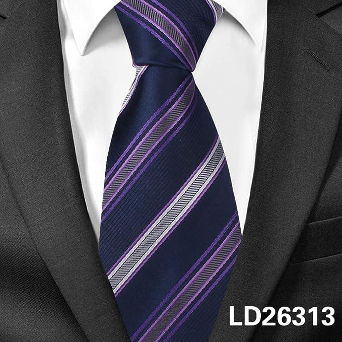 DYDONGWL Corbata Fina Hombre,Corbatas de Hombre Corbatas a Rayas ...