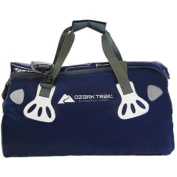 Ozark Trail 40L bolsa seca bolsa en gris/azul, resistente al agua, alta