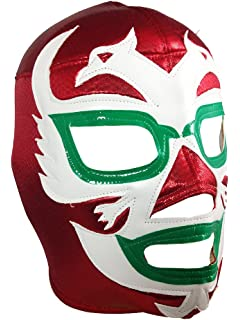 DOS CARAS Adult Lucha Libre Wrestling Mask (pro-fit) Costume Wear - Red