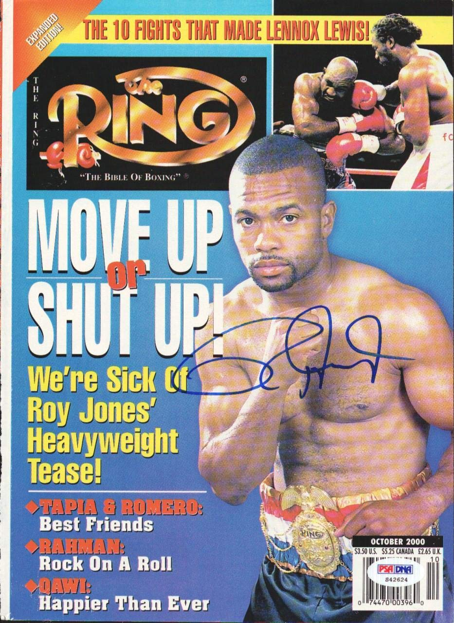Roy Jones Jr. Autographed The Ring Magazine Cover #S42624 PSA/DNA Certified Autographed Boxing Magazines