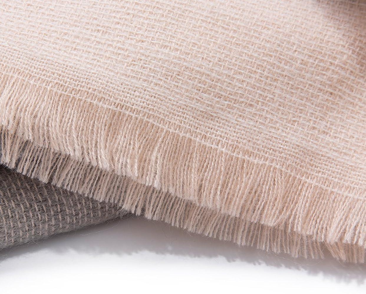 Flowomen Oversized Blanket Scarf Plaid Shawl Fashion Wrap Chunky Lightweight Warm Soft Tassel