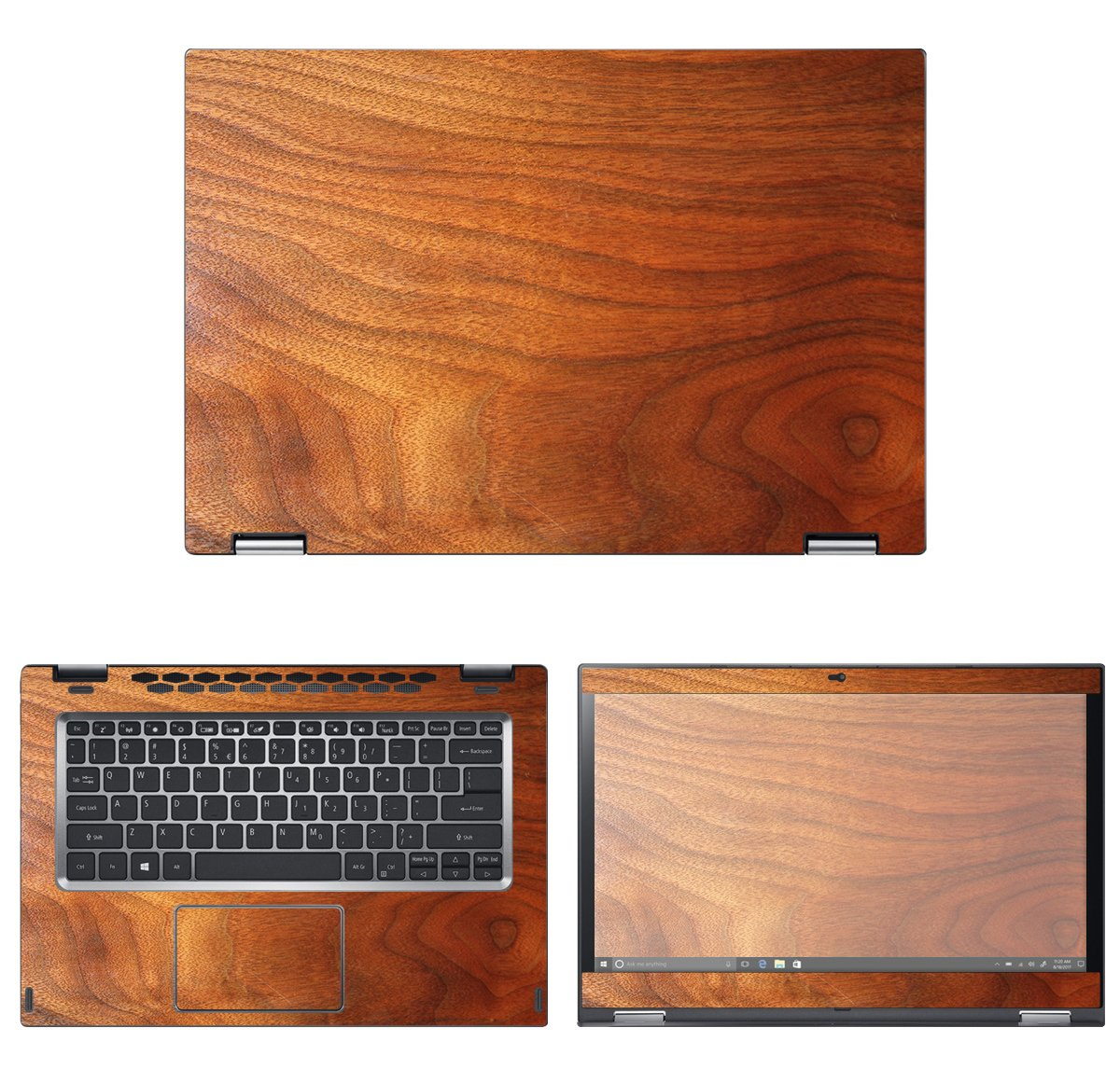 decalrus - Protective Decal Wood Skin Sticker for Acer Spin 3 SP314-51 (14'' Screen) case cover wrap ASspin3sp314_51-155