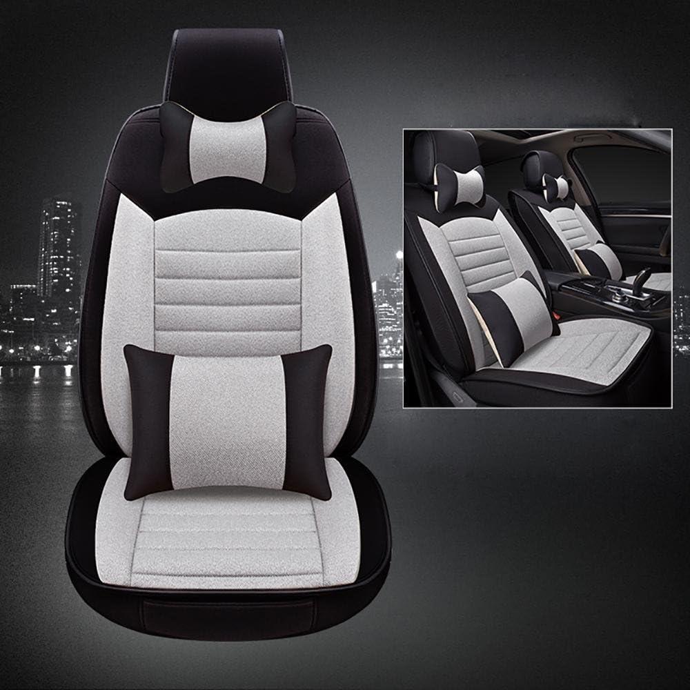 Auto Five-Seats Auto Universal Auto Seat Cover mit Headrest und Lumbar Support, Gray