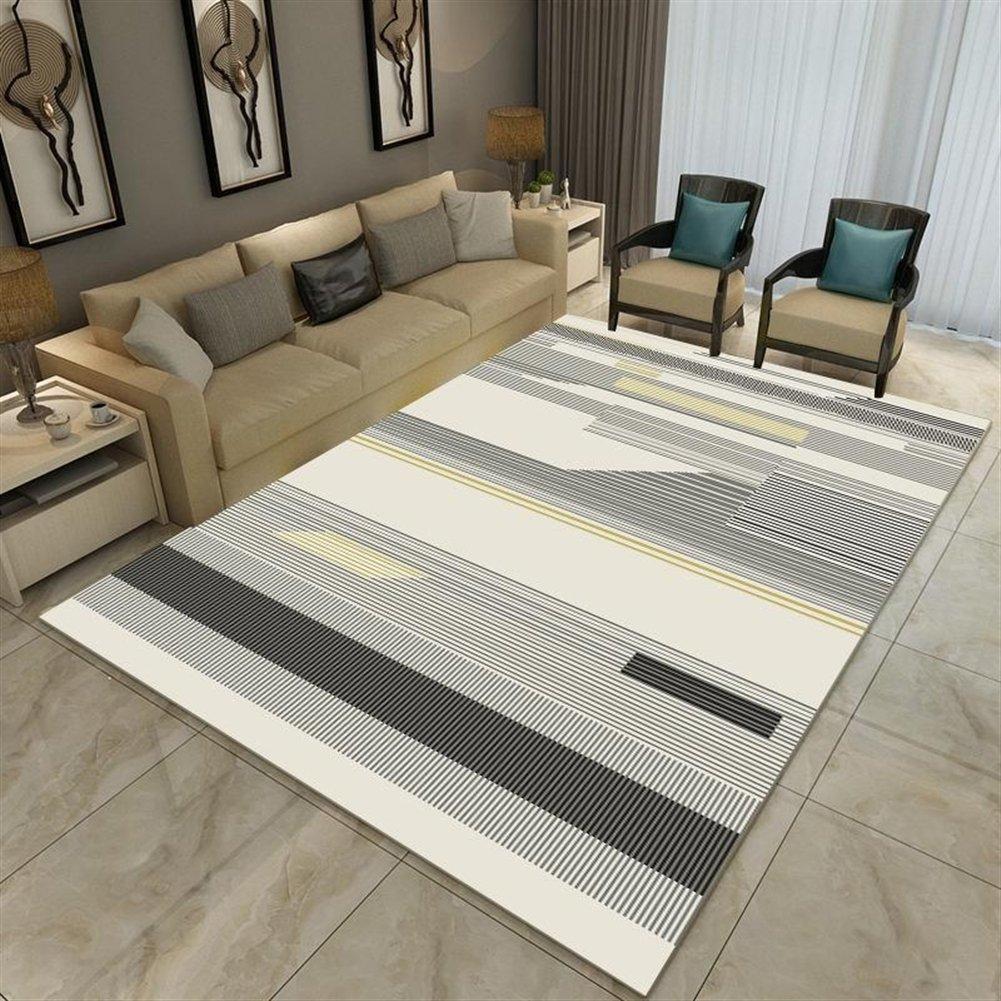 Ommda Teppiche Wohnzimmer Modern Modern Modern Digitales Geometrie Teppich Farbeful Kurzflor Antirutsch Abwaschbar 140x200cm 9mm B07F8RNKSW Teppiche 9d6514