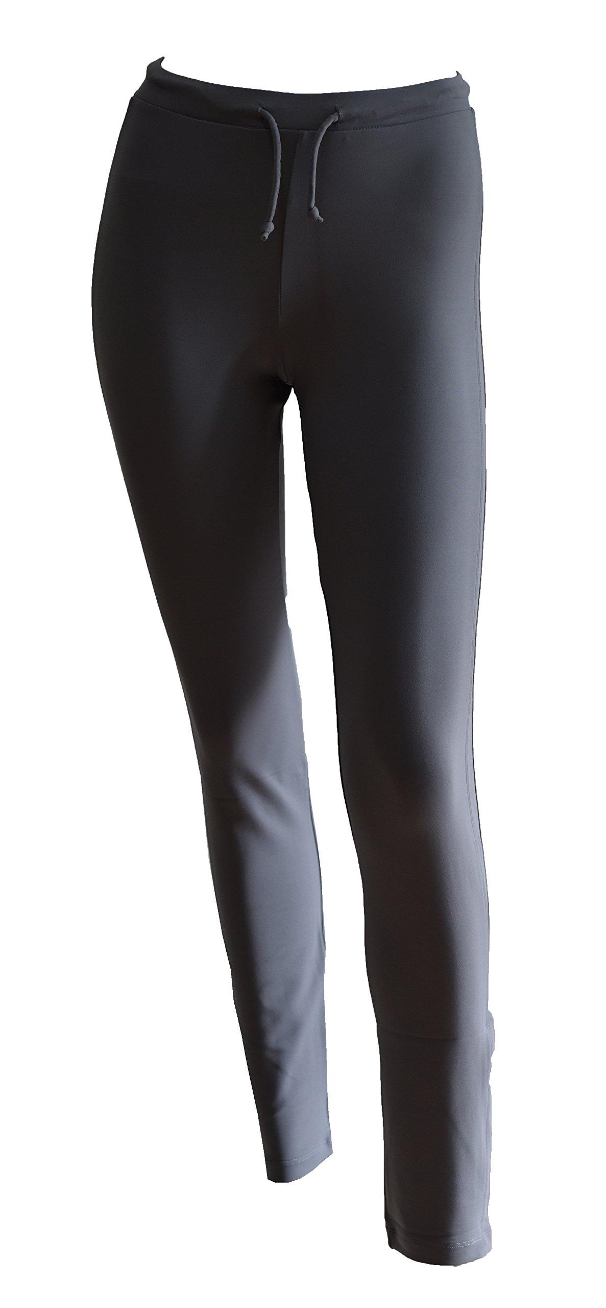 Private Island Women Rash Guard Swim Long Pants (XL, Grey-RGP) by Private Island