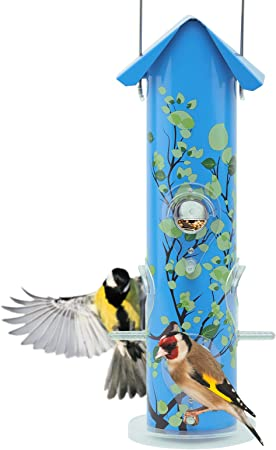 Metal Bird Seed Feeder Tous Temps Jardin suspendu station d/'alimentation Common Birds