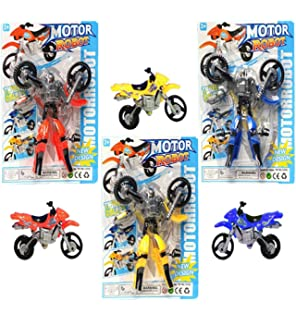 Amazon 3 pack best super fun novelty plastic airplane 3 pack best super fun novelty action figure toy transformer motorcycle set for special inexpensive easter negle Gallery