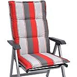 Beautissu Cuscino per Sdraio, poltrone e sedie da Giardino Loft HL 120x50x6cm - Colori Resistenti ai Raggi UV - Havana