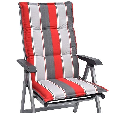 Marvelous Beautissu High Back Chair Cushion Loft Hl 120 X 50 X 6 Cm Recliner Garden Chair Pad With Soft Foam Core Design Havana Download Free Architecture Designs Ogrambritishbridgeorg