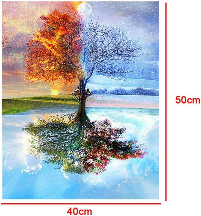 Aodaer 2 Packs Oil Painting by Numbers DIY Canvas Painting Street Scene Patterns Acrylic Painting Paintwork for Beginner Home Decoration 16 x 20 Inch