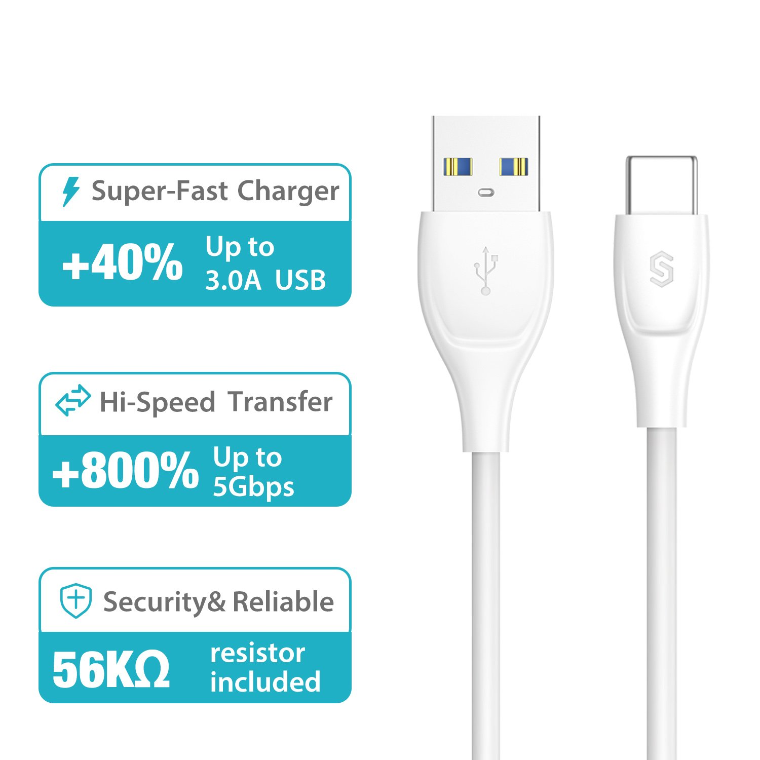 Syncwire USB 3.0 Type C Cable 2M- UNBREAKcable Series: Amazon.co.uk ...