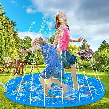Tapete aspersor de Agua de 150cm Juguete para infantes inflable ...