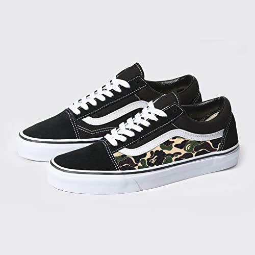 f45f99cfb9 Amazon.com  Vans Old Skool x Bape Camo Custom Handmade Uni-Sex Shoes By  Patch Collection  Handmade
