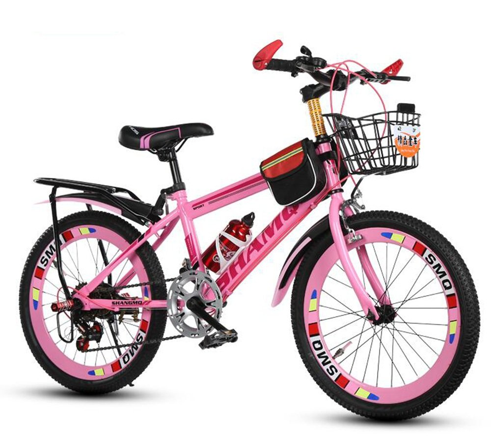 美しい 家子供用自転車、6-7-8-9-10-14歳のベビーカーの女性女性20/22インチの学生マウンテンバイク (色 : ピンク ぴんく, サイズ さいず : 20 inches) B07D1MDHTW 20 inches|ピンク ぴんく ピンク ぴんく 20 inches