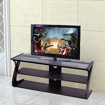 Amazon Com Tangkula Universal Tv Stand 3 Tire Tv Stand Storage
