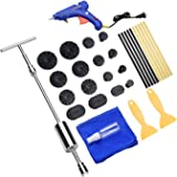 Cosparty 32PCS Dent Remover Repair Tools PDR Kits Dent Puller Paintless Slide Hammer with Glue Gun Sticks for Vehicle Car Auto Body Damage Remover