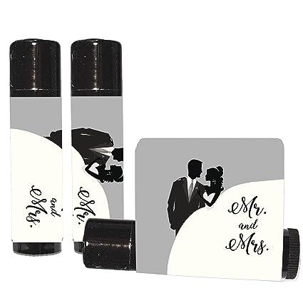 12 black and white wedding lip balms mr and mrs lip balms
