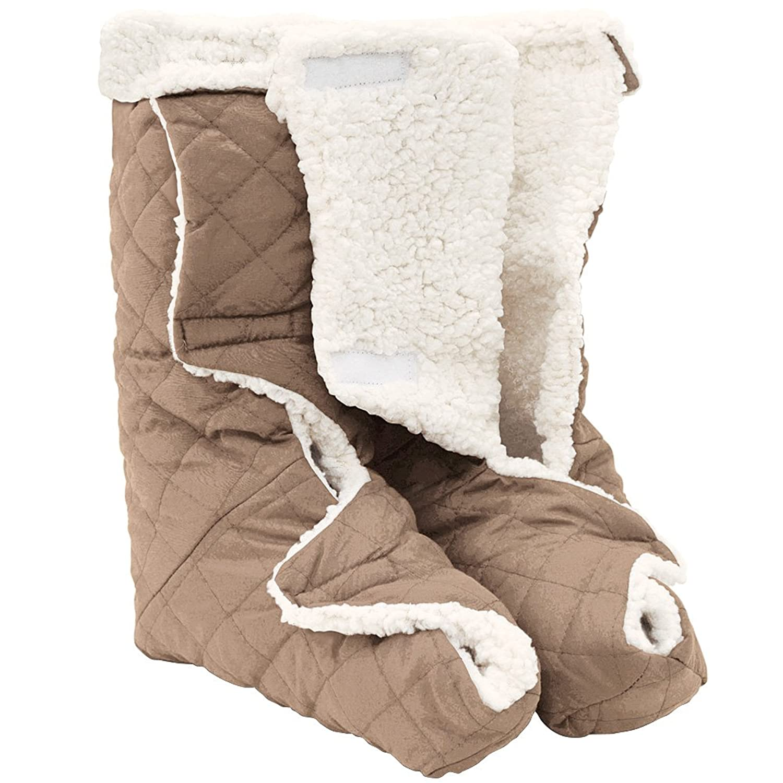 Jobar Leg And Foot Warmers Plush Lining Large Light Brown