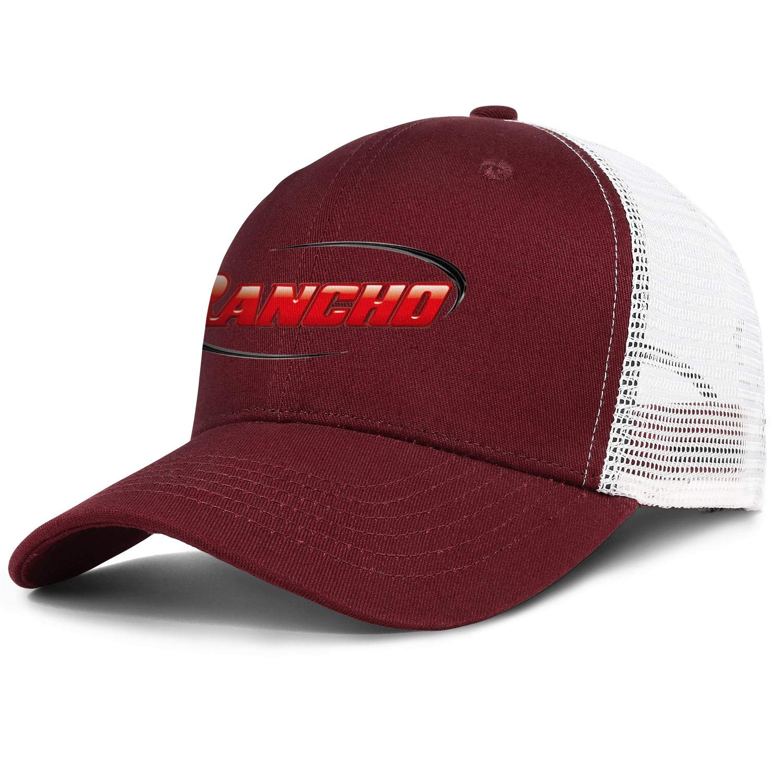 Rancho Suspension Logo Men Women Mesh Back Baseball Hat Classic Dad Hats