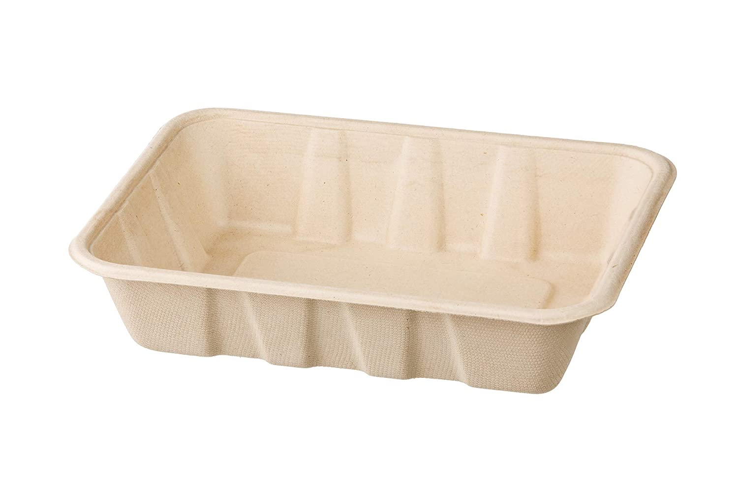 HARVEST PACK 32 oz Compostable Disposable Food Container Serving Trays, Rectangle, Made from 100% Eco-Friendly Plant Fibers [100 COUNT]