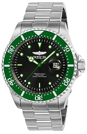 Invicta 25714 Pro Diver Reloj para Hombre acero inoxidable Cuarzo Esfera negro: Amazon.es: Relojes