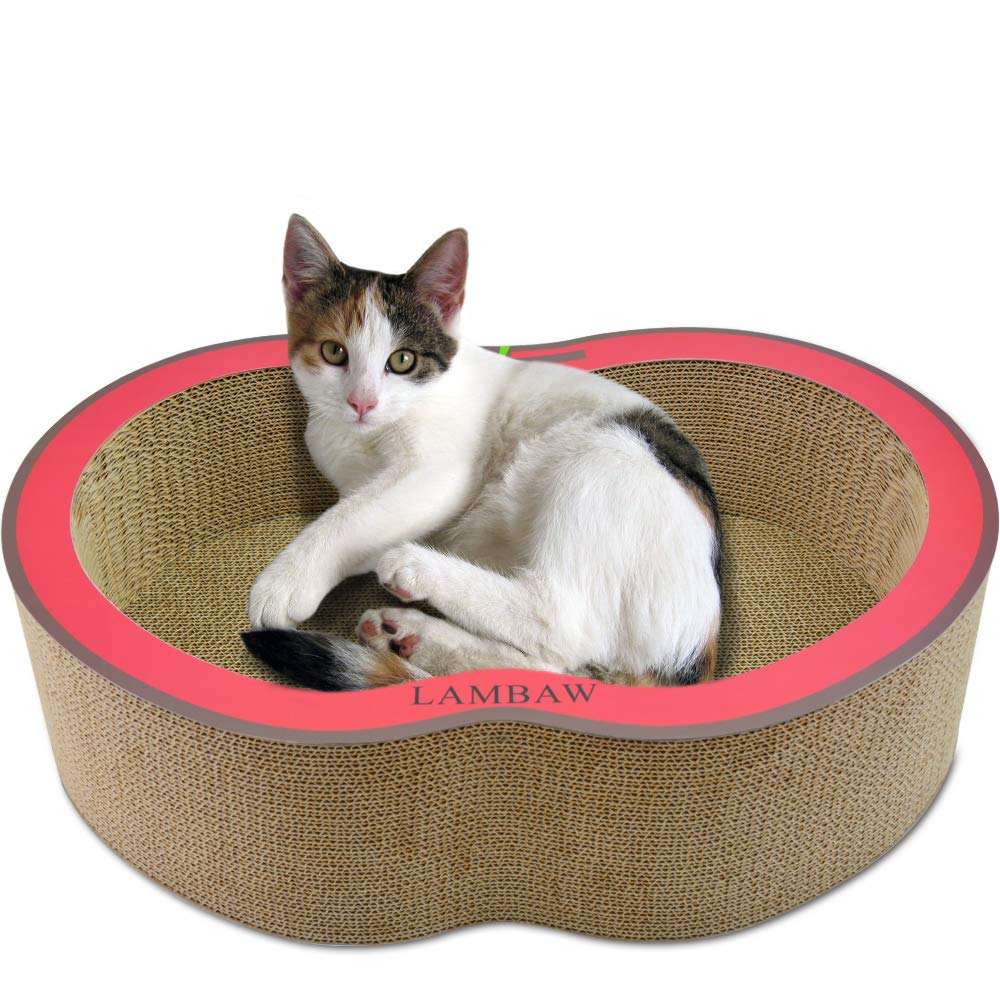 LAMBAW - Cat Scratcher Cardboard Nest - L Red Apple by LAMBAW