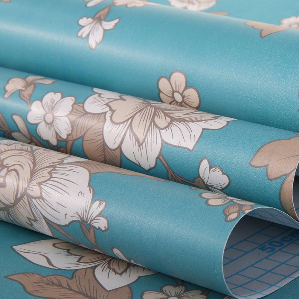 Papel pintado para estantes caj/ón muebles decoraci/ón de pared 45 x 200 cm Decorativo floral Contacto Papel autoadhesivo caj/ón estante maletero extra/íble Peel y Stick