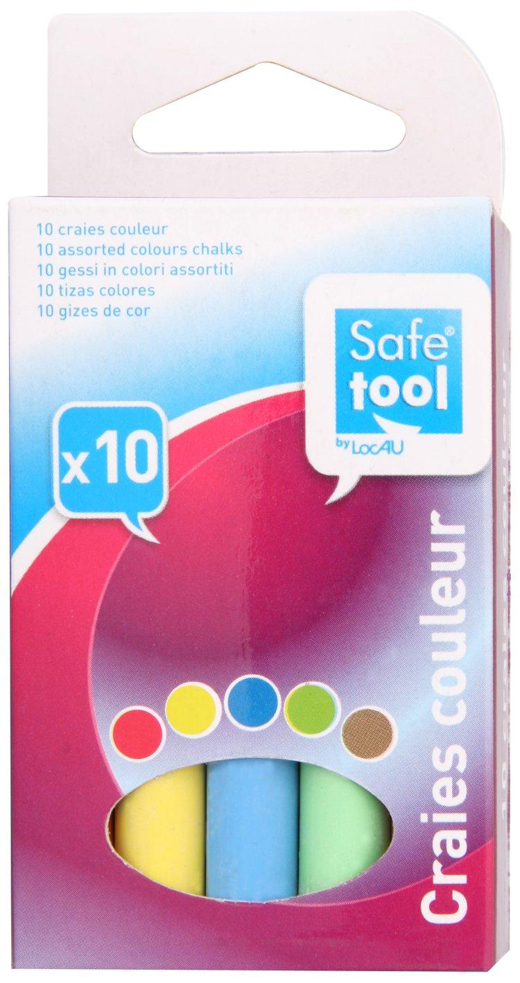 Safetool Boite 10 craies couleurs assortis