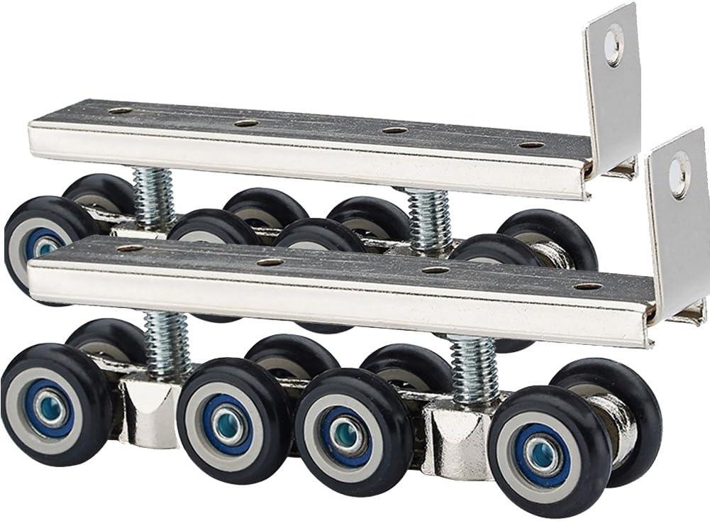 Hardware Slide Door Roller Side-Mounted Sliding Door Wooden Door Track Slide Pulley Hanging Rail Household Hardware