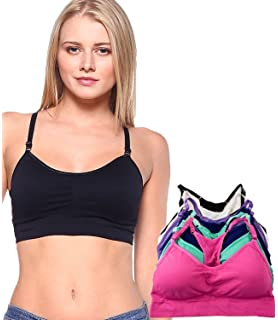 673abadff66 Barbra Lingerie 6 Pack of Regular   Plus Size Wirefree Sleep Yoga Sport Bras  with Removable