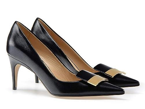 detailed look 01425 3c0b9 SERGIO ROSSI E4730 Decollete Donna Black sr1 Scarpe Shoe ...
