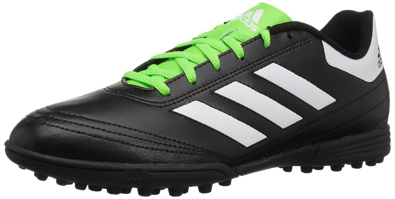 adidas Men's Goletto VI TF Soccer-Shoes, Black/White/Solar Green, 9 M US BB0585
