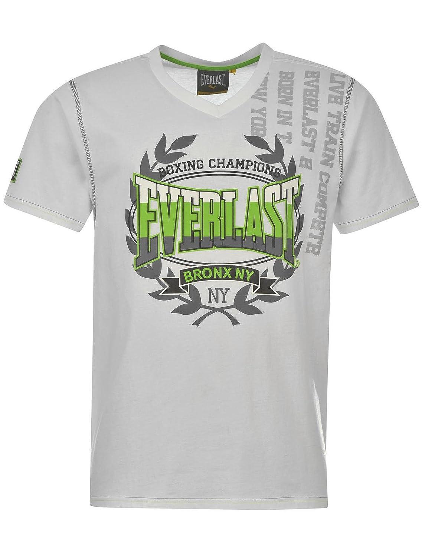 Everlast - Camiseta - Camisetas - para Hombre Blanco Small: Amazon ...