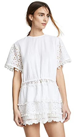 d72a2790e447 Place Nationale Women's Albi Eyelet Mini Dress, White Pintuck, 3 at ...