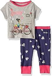 1f03fc744ec0a DKNY Baby Girls Printed T-Shirt and Pant Sleepwear Set